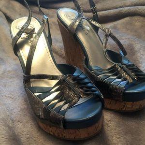 Fergie Wedge sandals (NWOT)